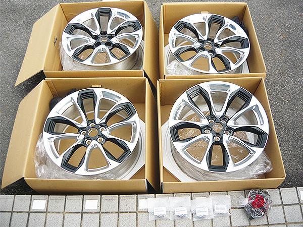 新車外し LEXUS レクサス LC Sパッケージ 純正 鍛造 21インチ ホイールナット センターキャップ付 8.5J +25/9.5J +25 PCD120 LS LC500