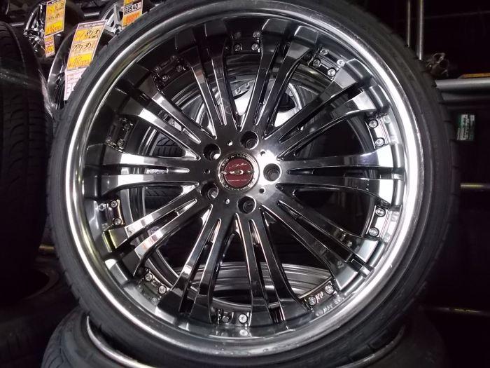 【中古セット】AME シャレン 20インチ 海外製タイヤ 225/35R20 245/35R20 4本セット