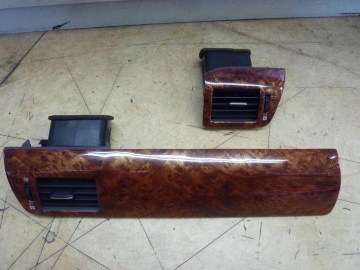 トヨタ 10系 アルファード 社外品 エアコン吹き出し口 インテリアパネル ウッドパネル 木目調 中古