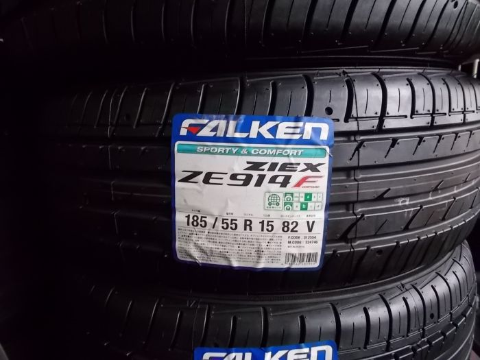 【買取り未使用品】ファルケン ジークス ZE914 185/55R15 4本 工賃+バランス+タイヤ処分料込み価格!【早い者勝ち!】
