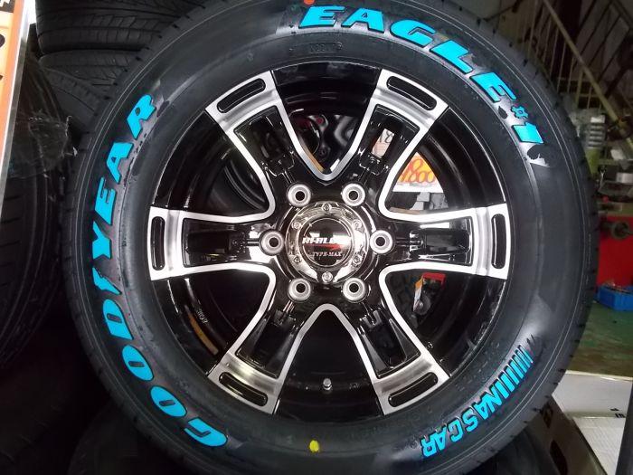 【新品セット】HI-BLOCK TYPE-MAX 16インチ グッドイヤー NASCAR 215/65R16 4本セット