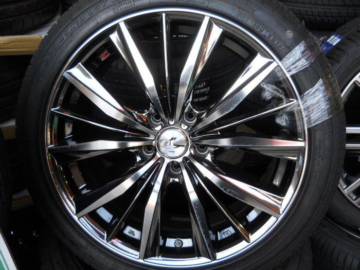 中古ホイール+新品タイヤ Weds レオニス 18インチ ZEETEX 4本セット
