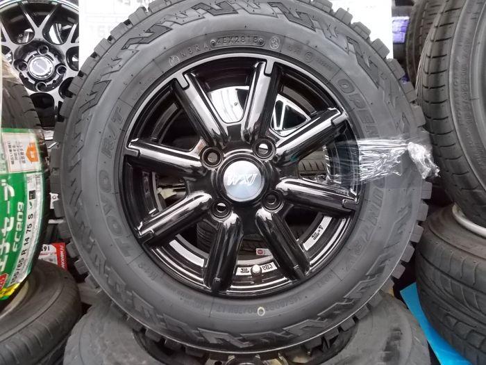 新品タイヤホイールセット LEOWING WXJ 12×4+43 トーヨー OPENCOUNTRY 145/80R12