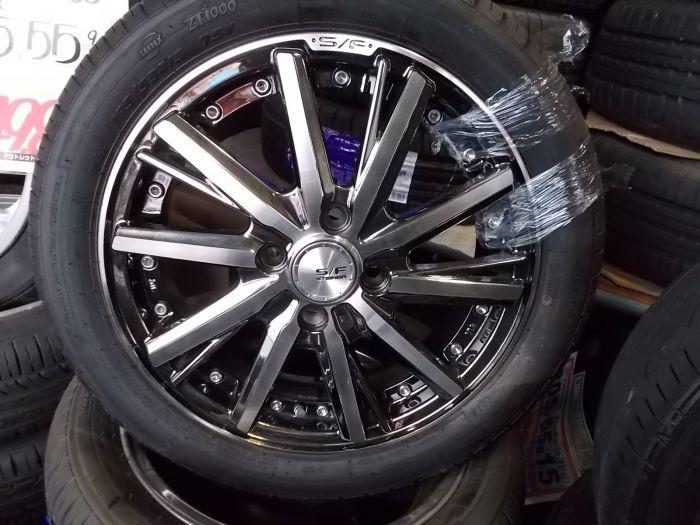 新品タイヤホイールセット KYOHO STEINER SF-V 15×4.58+45 ZEETEX ZT1000 165/55R15