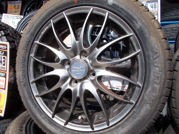 【中古】WORK STEEZ 15インチ 未使用タイヤセット