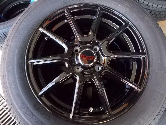 【中古】DILETTO S52 15インチ 4H100 175/65R15 タイヤセット