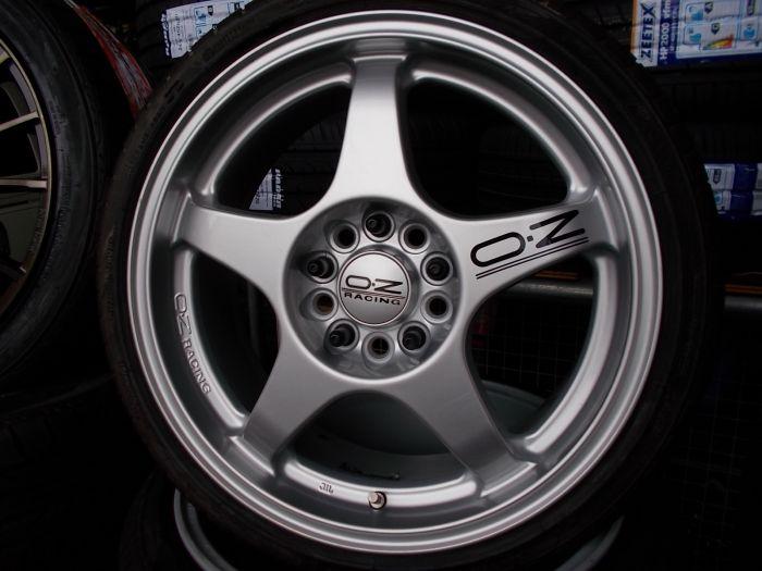 【中古ホイール+新品タイヤ】OZレーシング 17インチ 195/40R17 4本セット