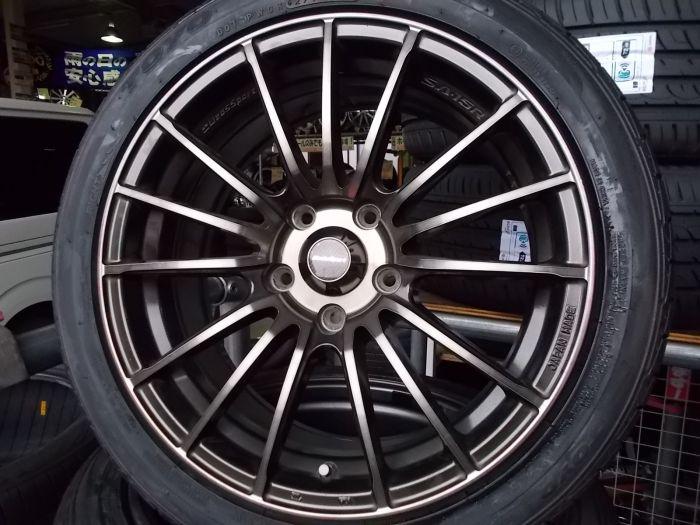 【中古ホイール+未使用タイヤ】WEDS SPORT 17インチ TOYO 215/45R17 4本セット