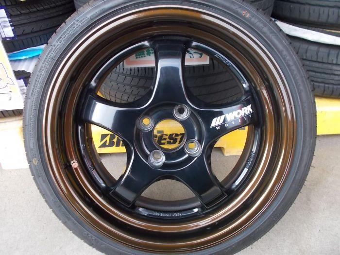 【中古ホイール+新品タイヤ】WORK マイスターSIR 16インチ ZEETEX 165/45R16 4本セット