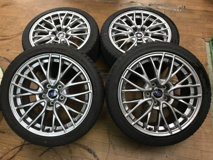 WRX S4 純正ホイール タイヤSET STI VAB 8.5J+55 PCD114.3 18インチ 245/40R18