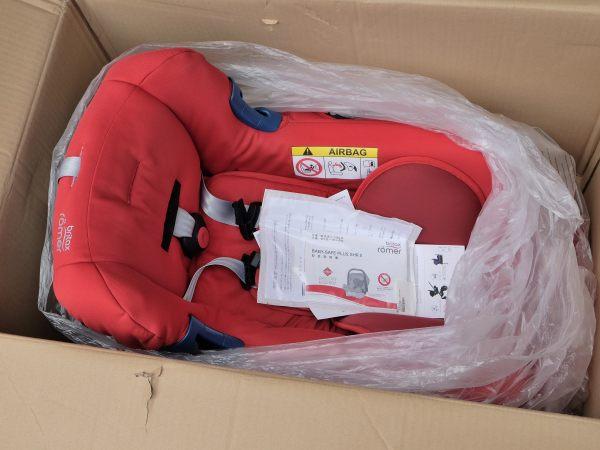 ブリタックス レーマー britax ベビーシート ベビーセーフプラスSHR II フレイムレッド 新生児~15ヶ月頃 未使用品
