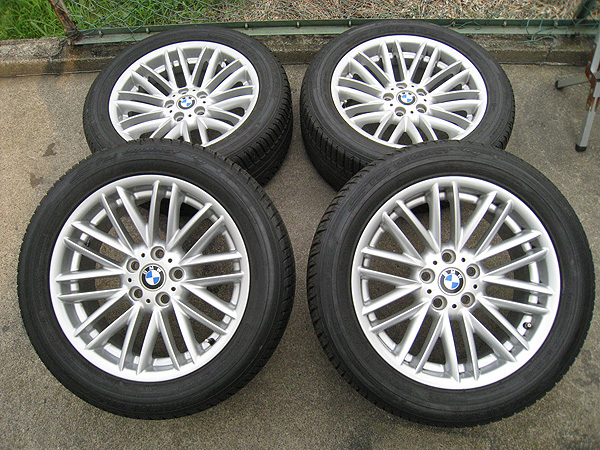 BMW 7シリーズ 純正 BBS 18x8J +24 PCD120 5穴 ミシュラン 245/50R18 中古タイヤホイール 4本セット