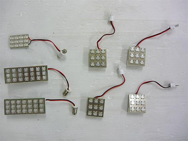 10系 アルファード LED ルームランプ 7点 ブルー ANH10・15W/MNH10・15W 室内灯