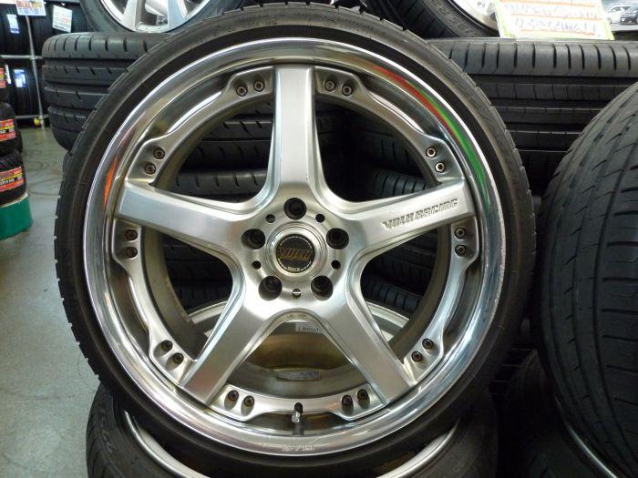 RAYS VOLK RACING GTS 19インチ アルミホイール + ピレリ P1 225/35R19 & 245/35R19 中古タイヤ 4本セット