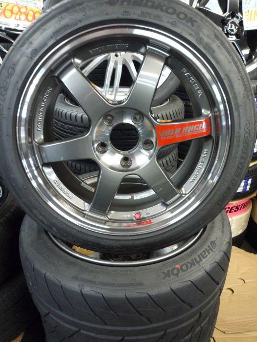 RAYS VOLK RACING TE37SL 17インチ アルミホイール(中古) & ハンコック ventus RS4 225/45R17(中古) 4本セット 東郷店
