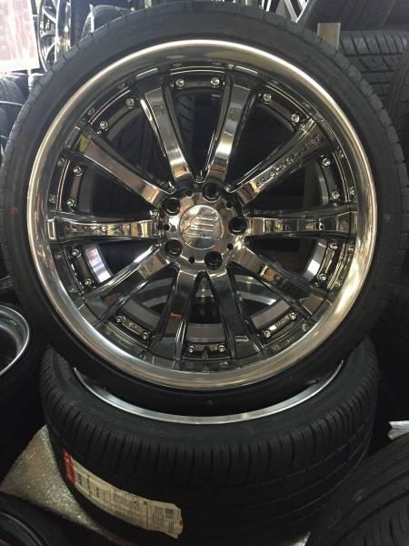 新品SET☆RAYS ブラックフリート V810 19インチ 235/35 265/30 クラウン、マークX