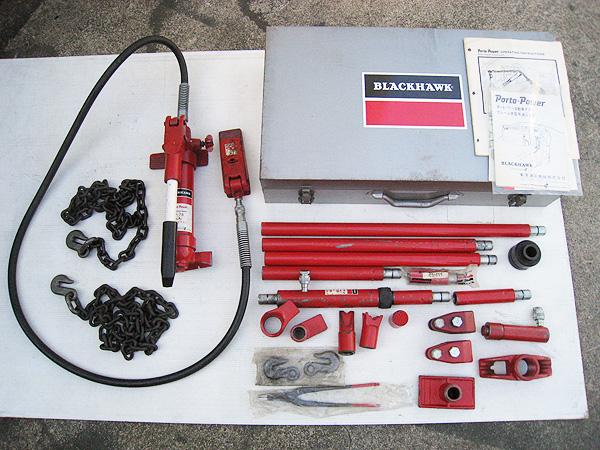 ブラックホーク ポートパワー 5トン デラックスセット SS-2L フレーム修正 鈑金 板金 油圧工具