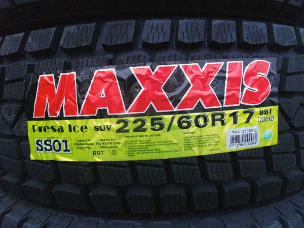15年製 MAXXIS SS01 SUV車用 225/60R17 スタッドレスタイヤ 4本