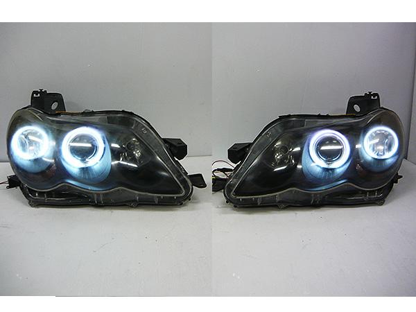 GRX120/GRX125 マークX 純正 HID ヘッドライト CCFL イカリング バラスト付 インナーブラック KOITO 22-330 左右セット