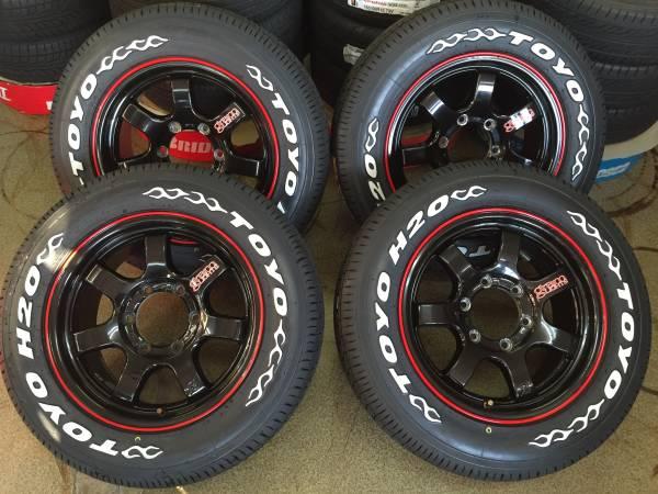 200系ハイエース☆RAYS グラムライツ 57SX H20 215/65R16C ホワイトレター 新品タイヤ